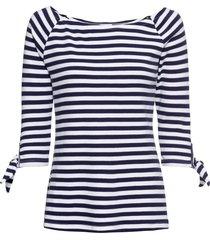 maglia con scollo a barca e maniche a 3/4 (blu) - rainbow