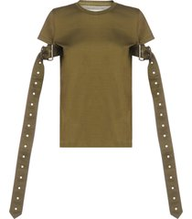 marquesalmeida belt-sleeves cotton t-shirt