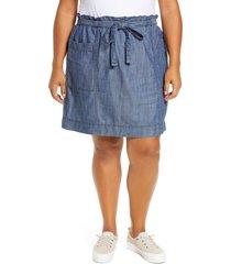 plus size women's caslon tie waist utility skirt