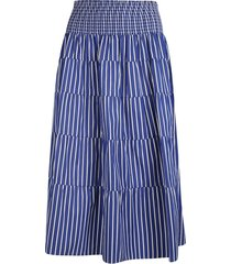 prada striped high elastic waist skirt