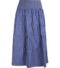 prada striped high elastic waist skirt