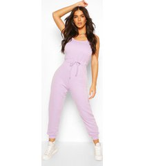2 in 1 cami top & jogger jumpsuit, lilac