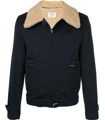 kent & curwen cutaway collar jacket - blue