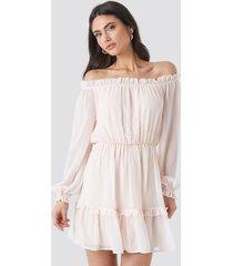 na-kd bardot mini dress - pink