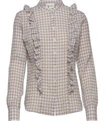 mao ls shirt blus långärmad beige second female