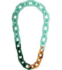 emporio armani chunky resin necklace - green
