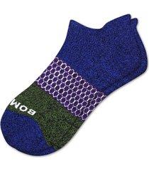 men's bombas colorblock no-show socks, size large - blue