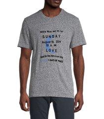zadig & voltaire men's graphic cotton-blend tee - melange grey - size s