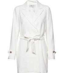 tied waist blazer dress korte jurk wit ivyrevel