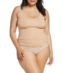 women's spanx socialight camisole, size medium - beige