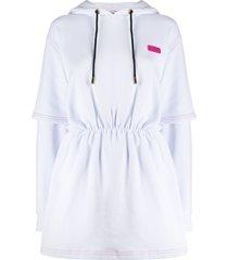 gcds hooded sweat dress - white