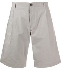 nine in the morning flared chino shorts - grey