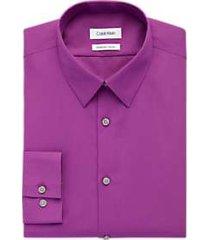 calvin klein pink extreme slim fit dress shirt