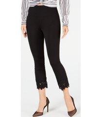 i.n.c. crochet-hem shaping leggings, created for macy's