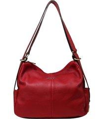 bolsa mochila de couro recuo fashion bag cereja