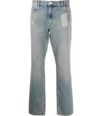 straight leg pocket shadow jeans