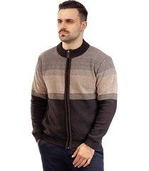 jaqueta de malha sumaré 10407 marrom