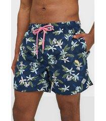 gant lemon flowers swim shorts cf badkläder insignia blue