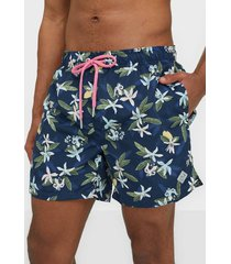 gant lemon flowers swim shorts cf badkläder insignia blue