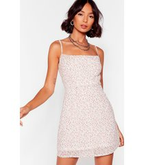 womens seeds must floral square neck mini dress - ivory