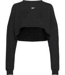 sr maternity longsleeve sweat-shirt tröja svart reebok performance