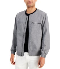 alfani men's collarless bomber jacket, created for macy's