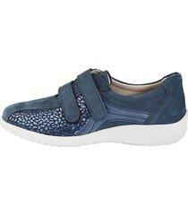 skor med karborreband naturläufer blå