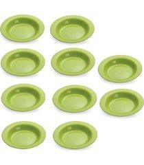 conjunto pratos de plástico sortidos p/ cozinha - 10 peças