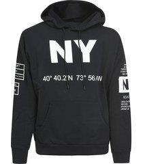buscemi mix print hoodie