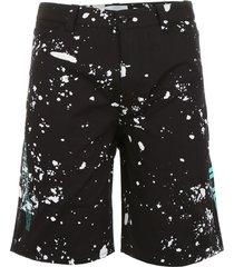 oamc splatter bermuda shorts