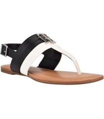 tommy hilfiger women's lenori flat thong sandals women's shoes
