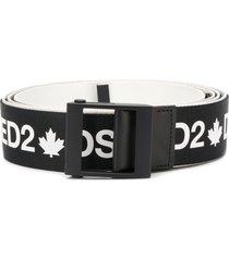 dsquared2 logo strap belt - black