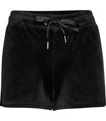 cecilia velour shorts shorts flowy shorts/casual shorts svart gina tricot