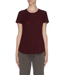 sheer slub crew neck t-shirt