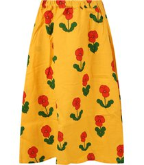 mini rodini yellow skirt for girl with violas