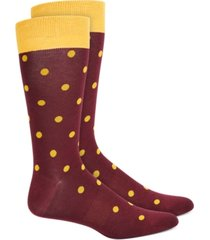 bar iii men's polka dot socks, created for macy's