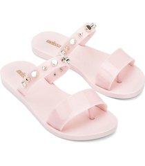 women's melissa love lip ii thong sandal, size 8 m - pink