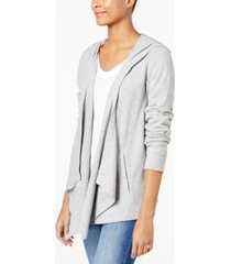 i.n.c. hooded open-front cardigan, created for macy's