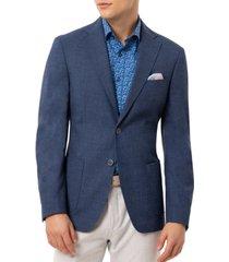 tallia orange men's slim-fit navy blue solid sport coat