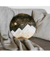 obraz koło / góry / noc / księżyc