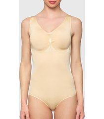 body lady genny seamless control beige - calce ajustado