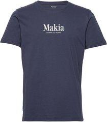 strait t-shirt t-shirts short-sleeved blå makia