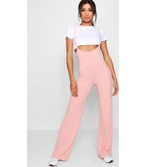 crop t-shirt strappy jumpsuit co-ord set, blush