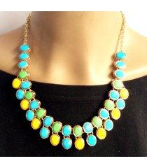 collar wow! dorado/multicolor