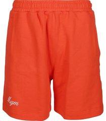 msgm orange cotton shorts