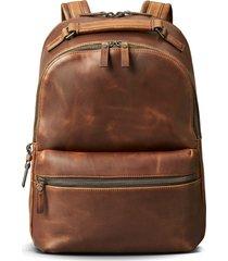 men's shinola runwell leather backpack - brown