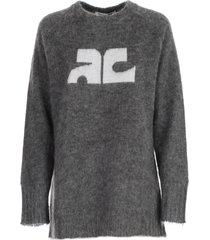 courrèges sweater l/s w/written