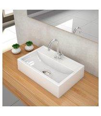 kit cuba para banheiro trevalla q45w torneira válvula 1 1/2pol branco gel