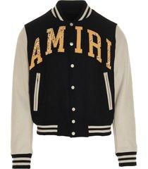 amiri vintage amiri applique varsity jacket