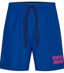 traje de baño medium print azul tommy hilfiger